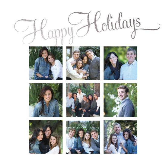 holiday photo cards - Happy Holidays Nine Square by Kristin Modjeska-Holt