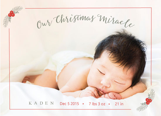 holiday photo cards - Miracle Baby by Candice Andersen