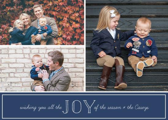 holiday photo cards - Preppy Joy by Green Fingerprint