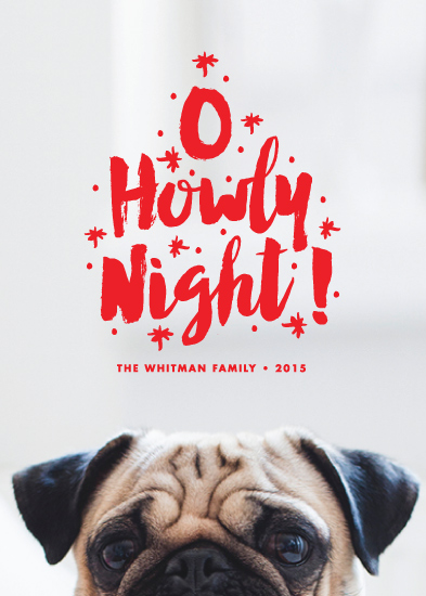 holiday photo cards - O Howly Night by Paper and Parcel