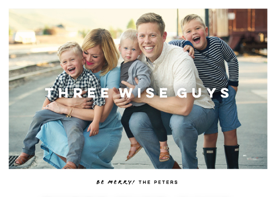 holiday photo cards - Wise Guys by Honest Cards