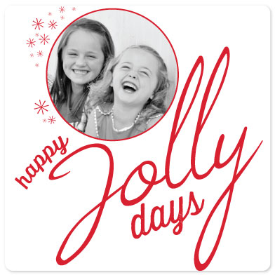 holiday photo cards - Jolly and Bright by Laura Lea