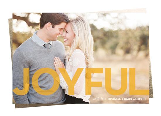 holiday photo cards - Angled Frame by Amanda Larsen Design