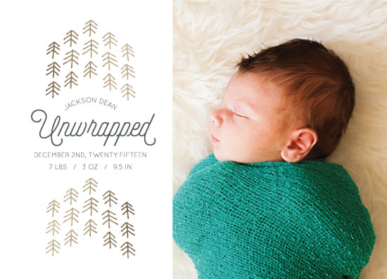 holiday photo cards - Baby Unwrapped by Jen Owens