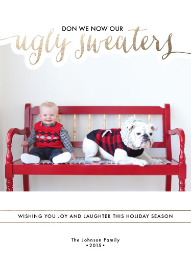 holiday photo cards - Ugly Sweaters by Alyssa Thom