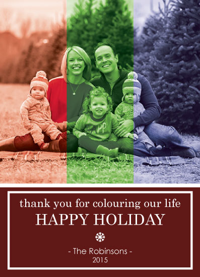 holiday photo cards - colourful holiday by CL