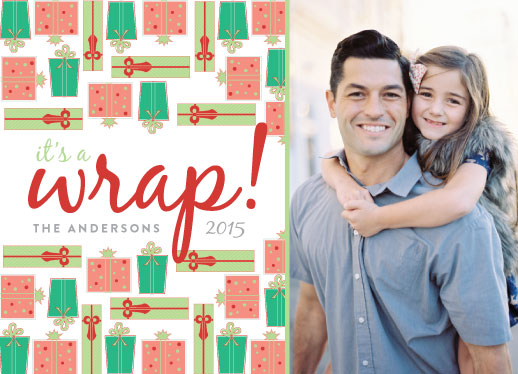 holiday photo cards - Its a wrap by Elizabeth Bright