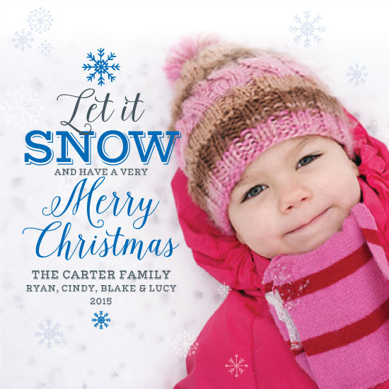 holiday photo cards - Let it Snow this Christmas by April Lammers