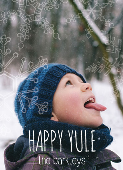holiday photo cards - Happy Yule by Julie Darrell