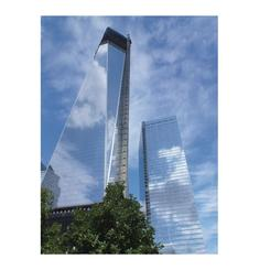 Cloudy Blue Skies Over Trade Center