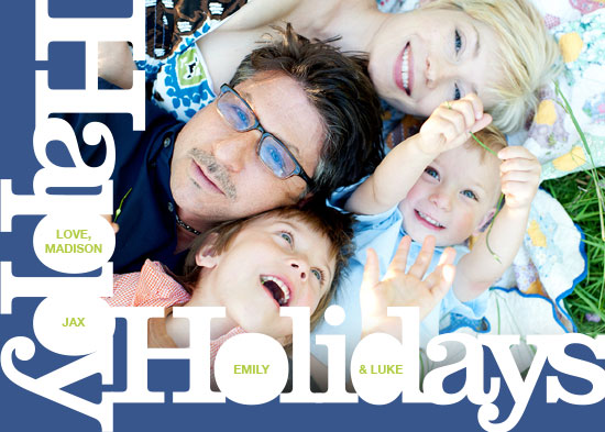holiday photo cards - Funky Type by Robin A. Brun