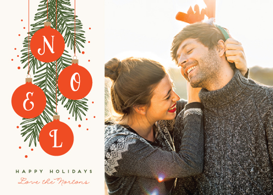 holiday photo cards - Noel Ornaments by Kelly Schmidt