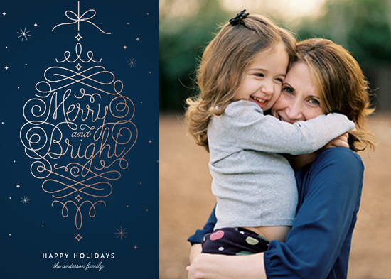 holiday photo cards - Merry and Bright Ornament by Kelly Schmidt