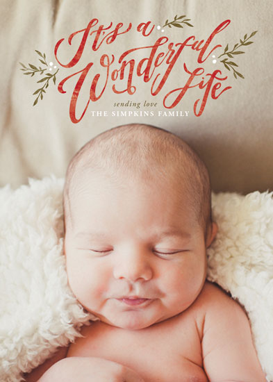 holiday photo cards - A Beautiful and Wonderful Life by Wildfield Paper Co.