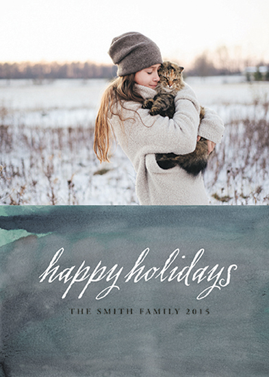 holiday photo cards - holiday blue by Elaine Melko