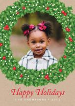 Holly-Day Wreath by Design Amigos