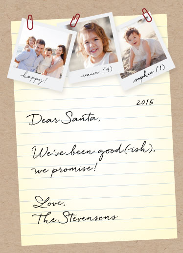 holiday photo cards - Note for Santa by carohug