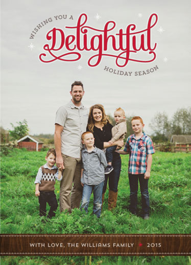 holiday photo cards - Simply Delightful by Sharon OHarren