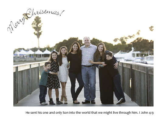holiday photo cards - He Sent His Son by Sue Minor