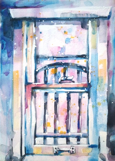 art prints - Looking Out or Looking In by Kelly Marie Johnson