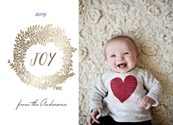 holiday photo cards - joy forevery more by Neeta Sawhney