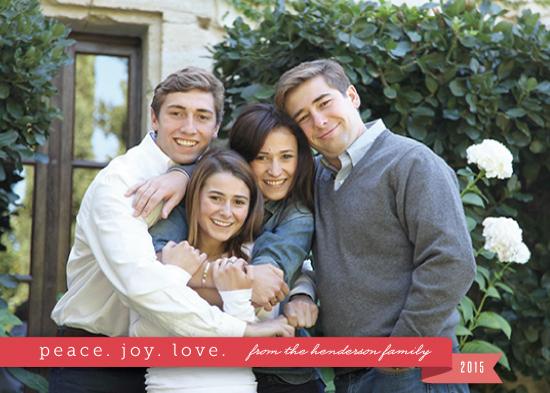 holiday photo cards - Ribbon of joy by Ling Wang