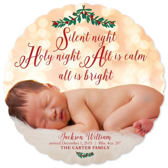 holiday photo cards - All is calm all is bright by April Lammers