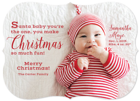 holiday photo cards - Santa baby you're the one by April Lammers
