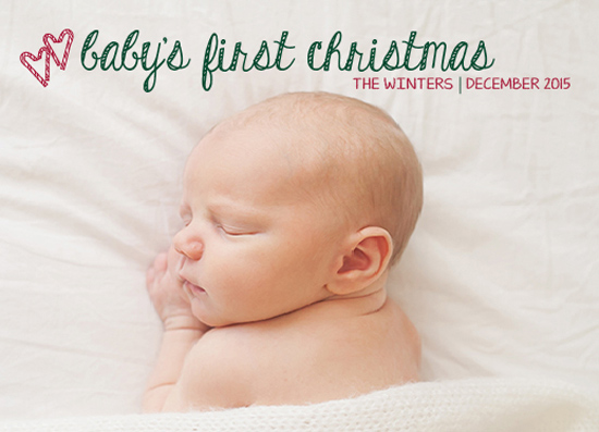 holiday photo cards - Baby's First Christmas Card by Marlie Renee