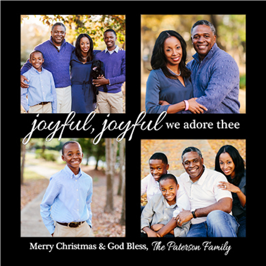 holiday photo cards - Joyful, Joyful. We Adore Thee. by Marlie Renee