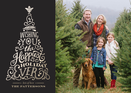holiday photo cards - Happiest Ever by Griffinbell Paper Co.
