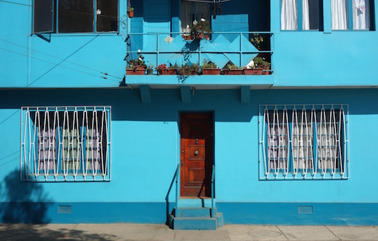 art prints - bright blue wall by Timothy Cochran