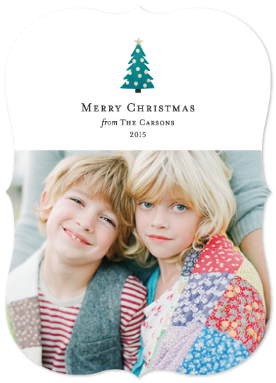 holiday photo cards - Merry Little Tree by Katherine Moynagh
