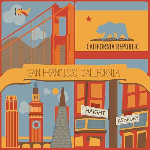 art prints - I <3 San Francisco by Elizabeth Bright