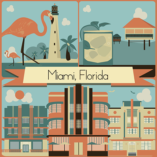 art prints - Miami, yo! by Elizabeth Bright