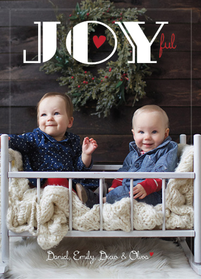 holiday photo cards - Joyful. by Marlie Renee