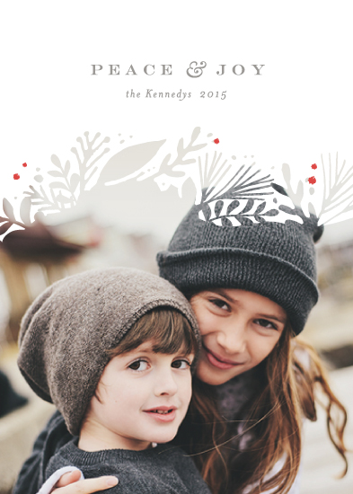 holiday photo cards - wintry white botanicals by Jennifer Wick