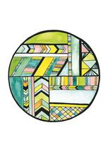 Geometric Watercolor an... by Erin Williams