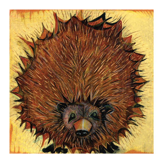 art prints - Hedgehog by Amy Wicherski