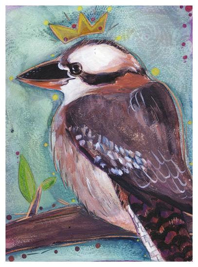 art prints - Kookaburra by Amy Wicherski
