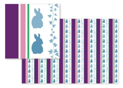 fabric - Garden Stripes by Laura Lea