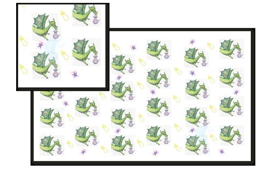 fabric - Princess Izzy's Dragon by Kati Smeaton