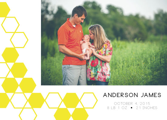 holiday photo cards - Hexagon by Whitney Deal