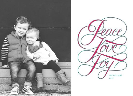 holiday photo cards - peacelovejoy by andrea espinosa