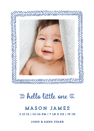holiday photo cards - Hello Little One by Paper Dahlia