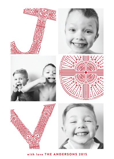 holiday photo cards - pressed for joy by Phrosne Ras