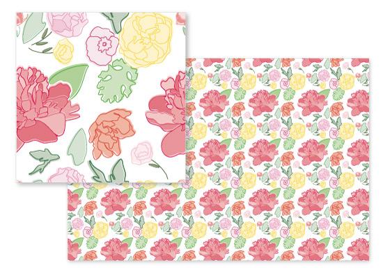 fabric - A Peony Saved is A Peony Earned by Sarah Buis