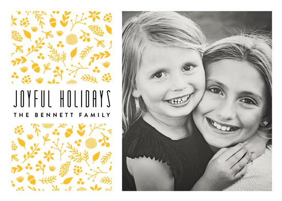 holiday photo cards - Botanic Joy by Erica Krystek