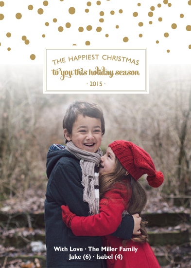 holiday photo cards - Happiest Christmas by Christy Allison Design