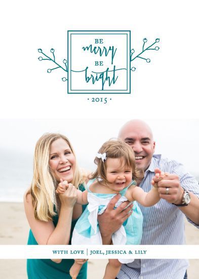 holiday photo cards - Be Merry Be Bright by Christy Allison Design